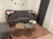 Sofa 3-Sitzer im Retro-Style Hocker