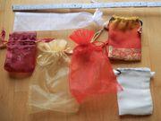 6 Stoffbeutelchen Säckchen Geschenke-Beutelchen