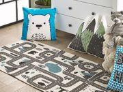 Kinderteppich Baumwolle blau 70 x