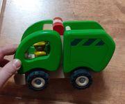 Goki Holzspielzeug Auto Müllwagen Wagen