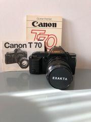 Canon T70 analoge Spiegelreflexkamera mit