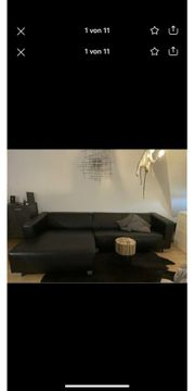 Couch Sofa Recamiere links Kunstleder
