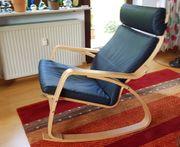 Schaukelstuhl POÄNG wunderbar zum Relaxen