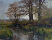Gemälde von Carl Jutz Bachlandschaft