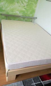 Bett mit Einsatz Madratze 140