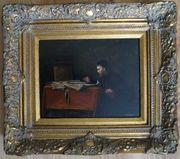 Gemälde der Schreiber Öl H