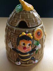 Keramik Zuckerdose Biene 9 5x13cm