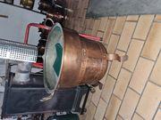 Kupfer Waschzuber mit Kupfergestell