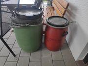 2 Kunststoff Fässer 50 und