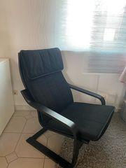 Poäng Sessel mit Auflage schwarz