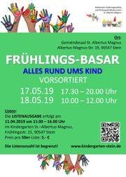 sortierter Frühlingsbasar des Kindergartens Albertus