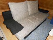 gepflegtes 3-sofa mit schlaffunktion