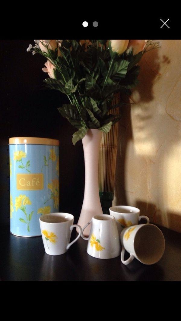 Espresso-Tassen mit Dose NEU