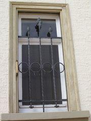 Fenstergitter Schmiedeeisen antik