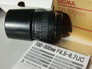 Canon SIGMA Objektiv 100-300 mm