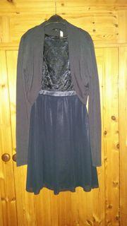Festliches Mädchenkleid Gr 32 dunkelblau