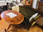 Sofa mit Tisch Biedermeier