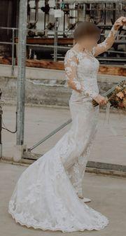 Meerjungfrauen Hochzeits- Brautkleid mit Spitze