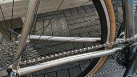 Mountain-Bikes, BMX-Räder, Rennräder - Custom Titanium Stinner CX Bike -