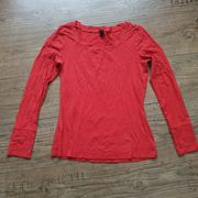 Shirt Top orange-rot Gr 36