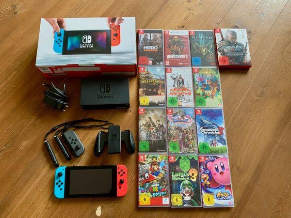 Nintendo Switch Komplettpaket * Inkl. 13 (! ) Spielen * Super Zustand *