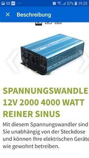 spannungswandler 12v 2000 4000 watt