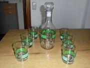 Glaskaraffe mit 6 Cola Rum