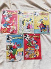5 Micky Maus Hefte 1977