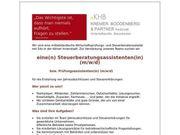 Steuerberatungsassistent bzw Prüfungsassistent m w
