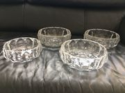 4 Schalen Glasschalen Kristall Bleikristall