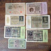 Ich biete folgende Banknoten an