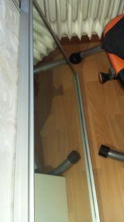 Spiegel Schiebetür Alurahmen 220 cm