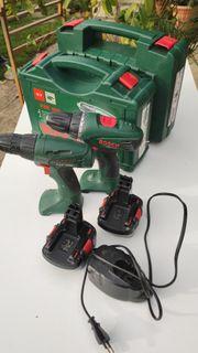Bosch grün Akkuschrauber Set PSR