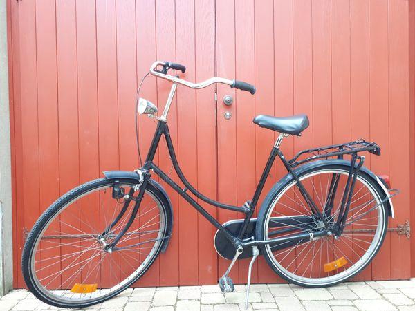 Holland-Fahrrad Retro Vintage schwarz