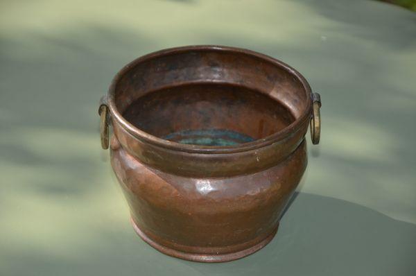 Kupfer Topf mit seitlichen Griffen