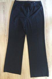 lange schwarze Stoff Hose von