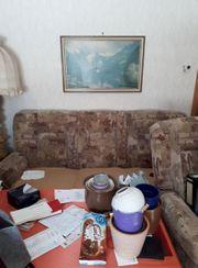 Wohnzimmercouch mit 2 Sesseln und