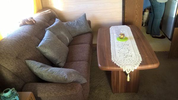 Couchgarnitur Hellbraun Top Zustand