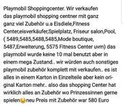 playmobil Shoppingcenter mit viel zubehör