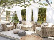 Lounge Set Rattan hellbraun 4-Sitzer
