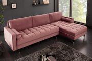 NEU Ecksofa Couch Cozy Velvet