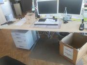 Schreibtisch mit roll Container zu