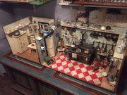 Riesige 2 Raum Puppenküche Puppenstube
