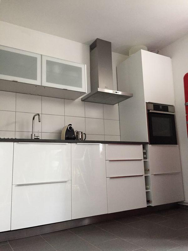 IKEA Einbauküche Metod Hochglanz weiss