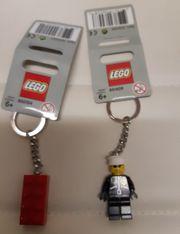 LEGO Schlüsselanhänger rot Stein 850154