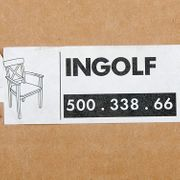 Massivholz Stuhl Armlehnenstuhl IKEA INGOLF