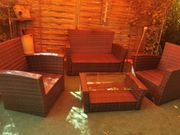 Polyrattan lounge set 4 teilig