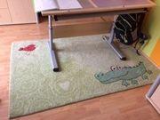 Sigikid Kinderteppich Krokodill Grün