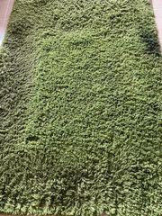 Teppich Läufer Hochfloor Grün