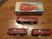 Märklin 3 Schienenbusse 5 Beiwagen
